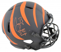 """Joe Burrow Signed Bengals Full-Size Authentic On-Field Eclipse Alternate Speed Helmet Inscribed """"Welcome to the Jungle"""" (Fanatics Hologram) at PristineAuction.com"""