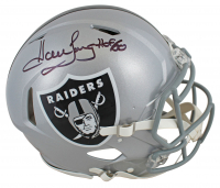 "Howie Long Signed Raiders Full-Size Authentic On-Field Speed Helmet Inscribed ""HOF 00"" (Beckett COA) at PristineAuction.com"