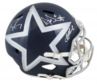 Troy Aikman, Dak Prescott & Tony Romo Signed Cowboys Full-Size AMP Alternate Speed Helmet (Beckett COA & Prescott Hologram) at PristineAuction.com