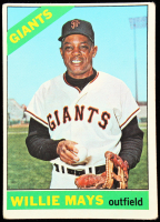 Willie Mays 1966 Topps #1 at PristineAuction.com