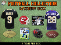 Schwartz Sports Football Collection Mystery Box - Series 10- (Limited to 100) (4 Autographs in EVERY Box!!) at PristineAuction.com