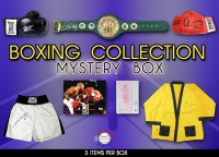 Schwartz Sports Boxing Collection Mystery Box - Series 7 (3 Boxing Autographs Per Box) (Limited to 75) *Floyd Mayweather Jr. Signed Belt Redemption* at PristineAuction.com