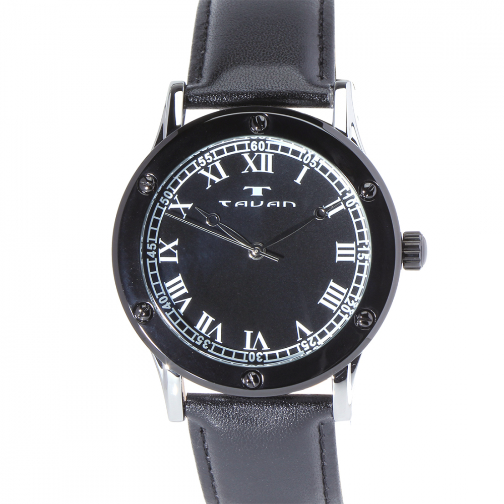 Tavan Sophisticate Silver and Black Men's Watch at PristineAuction.com