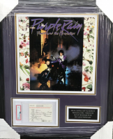Prince Rogers Nelson Signed 19x23 Custom Framed Customs Document Display (PSA 9 & PSA LOA) at PristineAuction.com