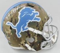Barry Sanders Signed Lions Full-Size Camo Alternate Speed Helmet (Schwartz Sports COA) at PristineAuction.com