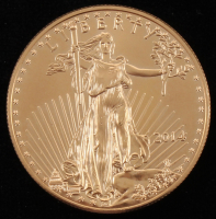 2014 $50 Fifty Dollar Liberty 1 Oz Gold Coin at PristineAuction.com