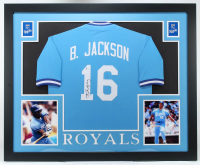 Bo Jackson Signed 35x43 Custom Framed Jersey (Beckett COA) (See Description) at PristineAuction.com
