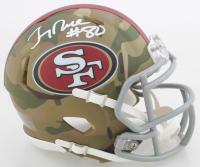 Jerry Rice Signed 49ers Camo Alternate Speed Mini Helmet (Schwartz COA) at PristineAuction.com