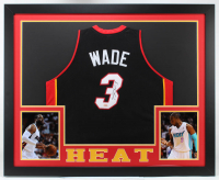 Dwyane Wade Signed 35x43 Custom Framed Jersey (Hollywood Collectibles COA) at PristineAuction.com