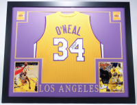 Shaquille O'Neal Signed 35x43 Custom Framed Jersey (JSA COA) at PristineAuction.com