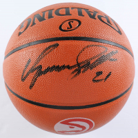 Dominique Wilkins Signed Hawks Logo NBA Game Ball Series Basketball (Schwartz Sports COA) at PristineAuction.com