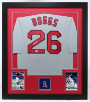 Wade Boggs Signed 31x35 Custom Framed Jersey (JSA COA) (See Description) at PristineAuction.com