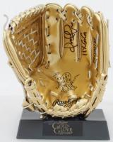 "Omar Vizquel Signed Rawlings Gold Mini Baseball Glove Inscribed ""11x GG"" (Schwartz COA) at PristineAuction.com"