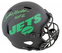"Curtis Martin Signed Jets Eclipse Alternate Full-Size Speed Helmet Inscribed ""HOF 12"" (PSA COA) at PristineAuction.com"