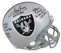 Howie Long Signed Raiders Full-Size Authentic On-Field Helmet with (7) Career Stat Inscriptions (Beckett COA) at PristineAuction.com