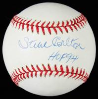 "Steve Carlton Signed ONL Baseball Inscribed ""HOF 94"" (JSA COA) at PristineAuction.com"