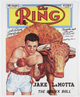 Jake LaMotta Signed 16x20 Photo With Multiple Inscriptions (JSA COA) at PristineAuction.com