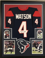 Deshaun Watson Signed 35x43 Custom Framed Jersey (JSA COA) at PristineAuction.com