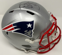 "Lawyer Milloy Signed Patriots Full-Size Speed Helmet Inscribed ""XXXVI Champ!"" (JSA COA) at PristineAuction.com"