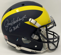"Jim Harbaugh Signed Michigan Wolverines Full-Size Authentic On-Field Helmet Inscribed ""Go Blue!"" (PSA COA) at PristineAuction.com"