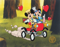 """Walt Disney's LE Mickey Mouse 60th Anniversary """"Nifety Nineties Art Commemorative 11x14 Serigraph Cel at PristineAuction.com"""