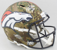 Peyton Manning Signed Broncos Full-Size Camo Alternate Speed Helmet (Fanatics Hologram) at PristineAuction.com