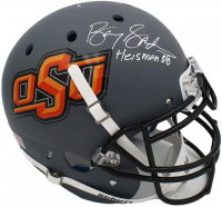 "Barry Sanders Signed Oklahoma State Cowboys Full-Size Authentic On-Field Helmet Inscribed ""Heisman 88"" (Schwartz COA) at PristineAuction.com"