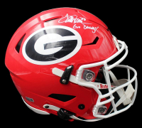 "Terrell Davis Signed Georgia Bulldogs Full-Size Authentic On-Field SpeedFlex Helmet Inscribed ""Go Dawgs!"" (Radtke COA & Terrell Davis Hologram) at PristineAuction.com"