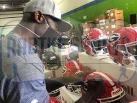 "Terrell Davis Signed Georgia Bulldogs Full-Size Authentic On-Field SpeedFlex Helmet Inscribed ""Go Dawgs!"" (Radtke COA & Terrell Davis Hologram) at PristineAuction.com"