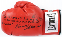 Earnie Shavers Signed Everlast Boxing Glove with Extensive Inscription Referencing Muhammad Ali (Shavers Hologram) at PristineAuction.com