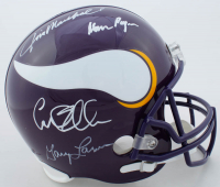 """Vikings """"Purple People Eaters"""" Full-Size Throwback Helmet Team-Signed by (4) with Carl Eller, Alan Page, Gary Larsen & Jim Marshall (Beckett COA) at PristineAuction.com"""