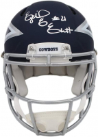 Ezekiel Elliott Signed Cowboys Full-Size Authentic On-Field AMP Alternate Speed Helmet (Radtke COA) at PristineAuction.com