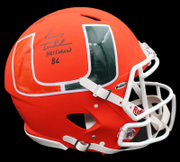 "Vinny Testaverde Signed Miami Hurricanes Full-Size Authentic On-Field AMP Alternate Speed Helmet Inscribed ""Heisman 86"" (Fanatics Hologram) at PristineAuction.com"