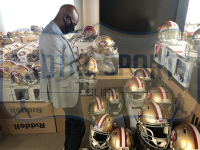 Jerry Rice Signed 49ers Full-Size Authentic On-Field Helmet (Radtke COA) at PristineAuction.com