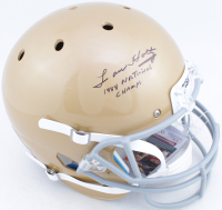 """Lou Holtz Signed Notre Dame Fighting Irish Full-Size Helmet Inscribed """"1998 National Champs"""" (JSA COA) at PristineAuction.com"""