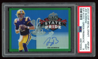 Joe Burrow 2020 Leaf Metal Draft State Pride Prismatic Green #SPJB1 (PSA 9) at PristineAuction.com