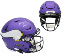 "Brett Favre Signed Vikings Full-Size Authentic On-Field SpeedFlex Helmet Inscribed ""HOF 16"" (Radtke COA) at PristineAuction.com"