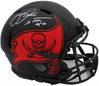 Mike Alstott Signed Buccaneers Full-Size Authentic On-Field Eclipse Alternate Speed Helmet (Radtke COA) at PristineAuction.com
