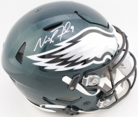 Nick Foles Signed Eagles Full-Size Authentic On-Field SpeedFlex Helmet (Fanatics Hologram) at PristineAuction.com