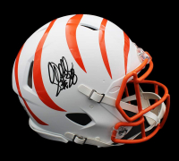 Corey Dillon Signed Bengals Full-Size Authentic On-Field Matte White Speed Helmet (Radtke COA) at PristineAuction.com