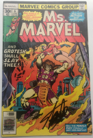 """Stan Lee Signed 1977 """"Ms. Marvel"""" Issue #6 Marvel Comic Book (Lee COA) at PristineAuction.com"""