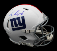 Sterling Shepard Signed Giants Full Size Authentic On-Field Matte White Speed Helmet (Radtke Hologram) at PristineAuction.com