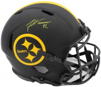 James Harrison Signed Steelers Full-Size Authentic On-Field Eclipse Alternate Speed Helmet (Radtke COA) at PristineAuction.com