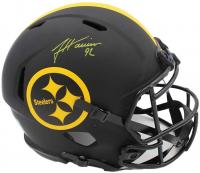 James Harrison Signed Steelers Full-Size Authentic On-Field Eclipse Alternate Speed Helmet (Radtke COA) at PristineAuction.com