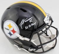 """James Harrison Signed Steelers Full-Size Speed Helmet Inscribed """"2x SB Champ"""" (Beckett COA) at PristineAuction.com"""