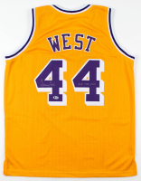 "Jerry West Signed Jersey Inscribed ""HOF 1980-2010"" (Beckett COA) at PristineAuction.com"
