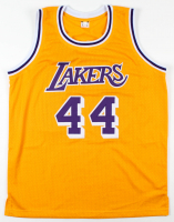 """Jerry West Signed Jersey Inscribed """"HOF 1980-2010"""" (Beckett COA) at PristineAuction.com"""