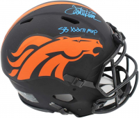 "Terrell Davis Signed Broncos Full-Size Authentic On-Field Alternate Eclipse Speed Helmet Inscribed ""SB XXXII MVP"" (Radtke COA & Terrell Davis Hologram) at PristineAuction.com"