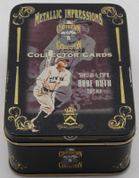 Complete Set of (5) 1994 Babe Ruth Metallic Impressions Embossed Metal Collector Cards With Original Tin at PristineAuction.com