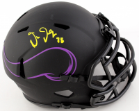 Justin Jefferson Signed Vikings Eclipse Alternate Speed Mini Helmet (Beckett COA) at PristineAuction.com